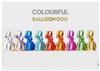 Jeff Koons اللامعة البسيطة البالونات الكلب تمثال ديكور المنزل محاكاة الكلاب الحيوان فن النحت الراتنج الحرف اليدوية اكسسوارات 10 * 10 سنتيمتر