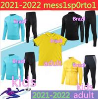 Top Quality 2021 Adulte + Enfants Polo Soccer Jerseys Rivaldo / R. Carlos 2021Long Studiez Suit Former Brasil Football Jerseys Shirt Shirt Expédition