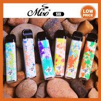 Miso SIX Disposable vape Kit 1600Puffs 5ml Side-refilled Design Pod System 950mah Built-in Battery with Air-intake Grooves Vapor 100% Original PK NOVO puff bar plus