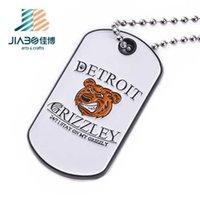 Jiabo factory custom engrave metal soft enamel custom animal dog tag charms necklace