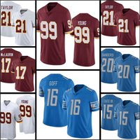 99 Chase Young 16 Jared Goff Jersey Jersey 17 Terry Mclaurin 21 Sean Taylor 20 Barry Sanders Mens 19 Breshad Perriman
