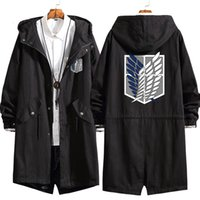 2021 Moda Yeni Erkekler Ceket Anime Titan Uzun Hoodie Ceket Eren Jaeger Cosplay Siper Kazak Palto 5L0n