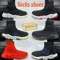 Plate-forme classique Hommes Casual Chaussures Chaussettes Sneaker Triple Noir Blanc Blanc Vert Styliste Formateurs Fashion Hommes Femmes Chaussures en plein air avec boîte