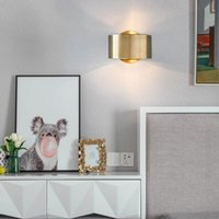 Modern Luxury Gold Led Wall Sconce Light Fixtures Wall Lamp ...