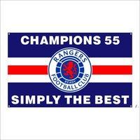 Kostenlose DHL-Verschiffen-kundenspezifische Flagge 3X5FT / 90x150cm Ranger-Fußball-Club FC treue Champions 55 Flaggen Banner für den Außensport BWD5394