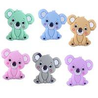 Keepgrow Baby Animal Silicone Teethers Dog Dinosauro Koala Baby Dentizione Accessori per il prodotto per Catene per ciuccio BPA gratis 0079