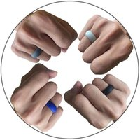 Wedding Rings 3pcs  Set Men Women Ring Unisex Silicone Rubber Sport Gym Fashion Jewelry Bands Engagement Trendy 7mm