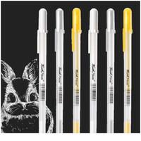 0.7mm Comic El-Boyalı Vurgu Kalem Metalik Işaretleyiciler Set Altın Gümüş Beyaz Boya Graffiti Kalemler Çizim Sanat Jllblu