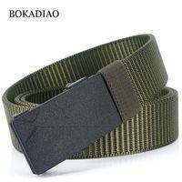 Bokadiao Man's Canvas Belt Nylon Metallo Automatico Fibbia Army Cinghie tattiche per uomo Jeans di lusso Joishband Cinturino maschile