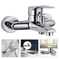 Bathroom Shower Sets Triple Bathtub And Cold Mixing Water Faucet Sink Spray Head Deck Taps