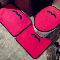 Коврик 3шт коврик для ванной комнаты Набор антискользящих ковров ковров Classic Pattern Antideslizante роскошный дизайн ванна