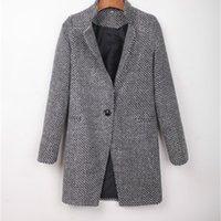 Primavera das mulheres novas modas de lã de lã mulher fina de lã mulheres e inverno selvagem MS BBCW