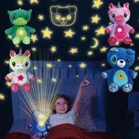 배꼽에 빛의 프로젝터가있는 박제 동물 장난감 봉제 장난감 야간 조명 어린이를위한 봉제 장난감 밤 조명 Cuddly 강아지 크리스마스 선물 어린이