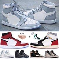 Mejor 1 1s Jumpman Shoes de baloncesto Wolf Grey Sail Hombres Mujeres Zapatillas de deporte Unión Los Angeles Black Toe Zoom Trealless Black Sneakers con caja
