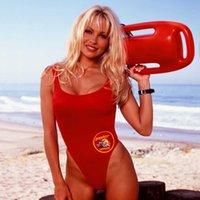 Bfustyle Classic Etats-Unis Baywatch Maillot de bain Femmes Sexy Rouge Rouge Support One Pièce Bather Maillots de bain Studes de bain L0223