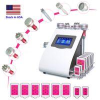 Cavitazione a ultrasuoni 40K Macchina dimagrante Lipo Laser 9 IN1 Attrezzatura per la resistenza alle rughe Dispositivo di rimozione della rullante