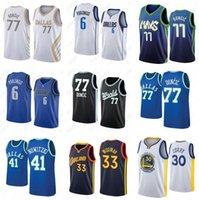 Luka NCAA 77 Doncic College Männer Basketball-Trikots Kristaps 6 Porzingis Dirk 41 Nowitzki Stephen 30 Curry 2021