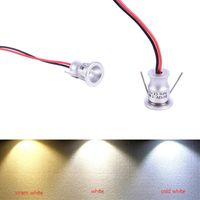 Downlights 12V LED Spotlight Armoire Mini Spot Light IP65 imperméable encastrée encastrée placard vitrine Affichage 1w corps en aluminium