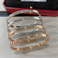 Braccialetti in argento sottile 4mm Braccialetti per le donne Men 316L Acciaio in acciaio in acciaio in oro I braccialetti Amanti Amanti Braccialetto Nessuna scatola 16-19 cm