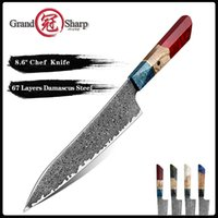 Grandsharp 8,6 Zoll Chefs Messer 67 Schichten VG10 Japanische Damaskus Küchenmesser Küche Edelstahl Werkzeug Gyuto Messer Geschenk