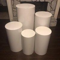 Branco Rodada Bolo Stand Ferro Sobremesa Tabela Bem-vindo Decoração de Casamento Plinth 210310
