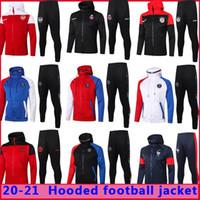 20 21 Pariser Fußball Hoodie Trainingsanzug Jacke Überleben 2020 2021 Mbappe Icardi Football Jacken Set Air Jordam Fussball Kapuzentraining SUI