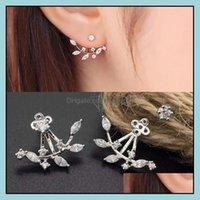 Jewelrycrystal Flower Leaf Angel Wings Geometry Stud Earrings For Women Statement Ear Jewelry Wholesale Drop Delivery 2021 Dtmyp