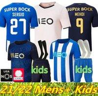 21 22 Üst FC Porto Futbol Formaları 2021 2022 Ev Uzakta 3rd Pepe Luis Díaz Matheus Mehdi Maillots De Foot Gömlek Marega Otávio Sérgio Erkekler Kids Kiti Futbol Üniformaları