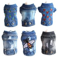 Jeans Pet Dog Vest Shirts Clothes Winter Puppy Cat Denim T-shirt Casual Cowboy Jacket For Small Dogs Chihuahua Coat Costume 10A