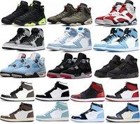 Chaussures de basket-ball Jumpman 6s Électrique Vert Carmine Olive 1S Shadow 2.0 Hyper Royal University Blue 4S Black Cat Bred Cactus Cactus Jack Baskets Sports Sports