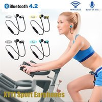 XT11 Wireless Bluetooth Headphones Magnetic Running Sport Earphones Noise reduction Headset BT 4.2 with Mic MP3 Earbud For iPhone LG Samsung Smartphones