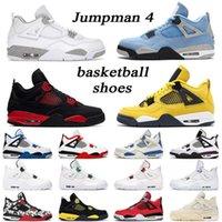 jumpman 4 Basketball Shoes men women 4s Lightning White Oreo University Blue Red Metallic Black Cat Cool Grey outdoor mens trainer (Exempt p