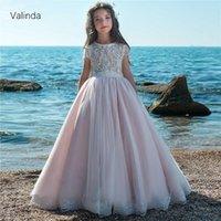 Girl's Dresses Short Sleeves Flower Girl Formal Occasion For Wedding Birthday Party