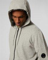 2 cores CP empresa hoodies zipper bolso na manga homens camisolas homens puxar sobre o tamanho do revestimento ao ar livre M-XXL