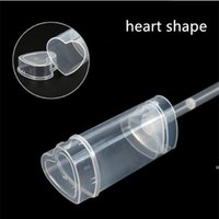 Heart Shape Food Grade Push Up Cake Containers Ice Cream Cupcake tools Wedding Birthday Party Decorations Cake Container Lid LLB10415