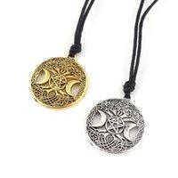 Кулон ожерелья дерево кабала ожерелье викинговая богиня луна пентаграмма волшебный амулет ведьма духовная церемония удачи ювелирные изделия подарок