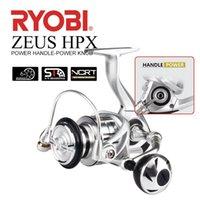 Ryobi Zeus HPX Spinning Pesca Reel 1000-8000 Relação de Engrenagem 5./5.0:1 6 + 1BB Max Drag 6KG-12KG Punho de Potência e Konb Reel Pesca