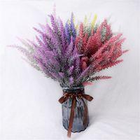 Flores artificiales de la lavanda Flor de alta calidad para la decoración del hogar de la boda, grano decorativo fake planta flores de seda envío gratis