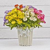 Fleurs décoratives de luxe Couronnes Haute roue Chrysanthemum Simulation Soie Fleur de soie Décoration FRH et élégant faux chrysanthème