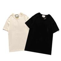 Мода Фортопс Письмо Вышивка футболка Мужская Женская Одежда Короткая Футболка Мужчины Tees B2