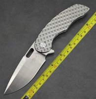 Twosun Couteaux en plein air M390 Titanium Flipper Pliant couteau de poche TS177 Maverick