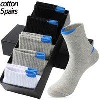 5 Pairs Lot Men's Casual Sports Socks Fashion Pure Cotton Men's Socks White Black Breathable Large Size Stockings 38-45
