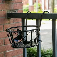 Planters & Pots Hanging Railing Planter Flower Pot Holder Plant Stand For Indoor Outdoor Balcony Patio Use Basket Garden