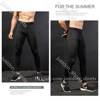Mens Fitness High Athletic Solid Yoga Tight Pants High Waist Running Yoga Outfits Ladies Sports Full Leggings Pants Workout Quick Dry AM1