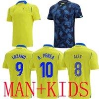 2021 2022 كاديز بعيدا كرة القدم الفانيلة الرئيسية A. Perea A.Negredo Cádiz CF Camisetas de Fútbol 21 22 Lozano Alex Bodiger Juan Caliseta A Liga Men + Kids Football Shirts Top