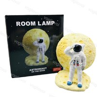 Night Lights Astronaut Spaceman Colorful LED Boy Bedroom Bedside Desktop Creative Home Decoration Gift Resin Lamp DHL