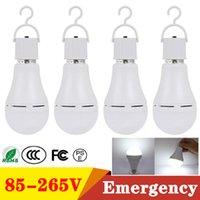 E27 Ampoules à LED d'urgence AC85-265V 9W 12W 15W 18W ampoule intelligente rechargeable avec crochet pour tente de camping à la maison