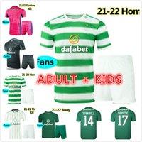 Kits Kids Kits 21 22 Celtic FC Soccer Jerseys Edouard 2021 2022 Elyounoussi Turnbull Ajeti كرة القدم قميص مجموعة Christie McGregor Griffiths Forrest موحدة