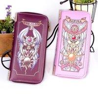 2 Arten Anime Card Captor Cardcaptor Sakura Cosplay Geld Tasche Brieftasche Lange Münze Geldbörse Halter