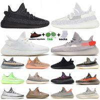 Statique réfléchissant V2 Beluga 2.0 Chaussures de course Sesame Beurre Noir Blanc Breds Breds Oreos Sports Sneakers Taille 36-47 sans boîte